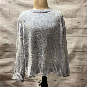 Altar'd State Chenille Sweater Blue Size Medium
